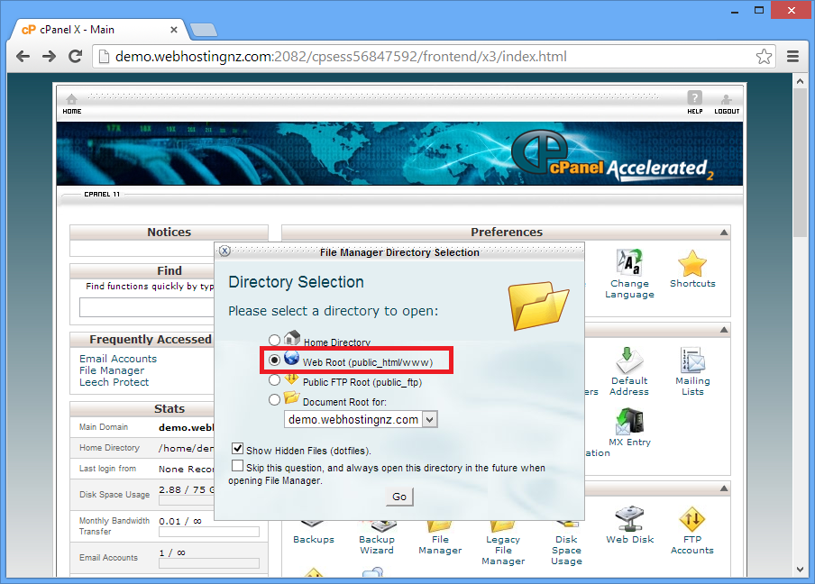 Webhostingnz | How do I upload my site in File Manager in cPanel?